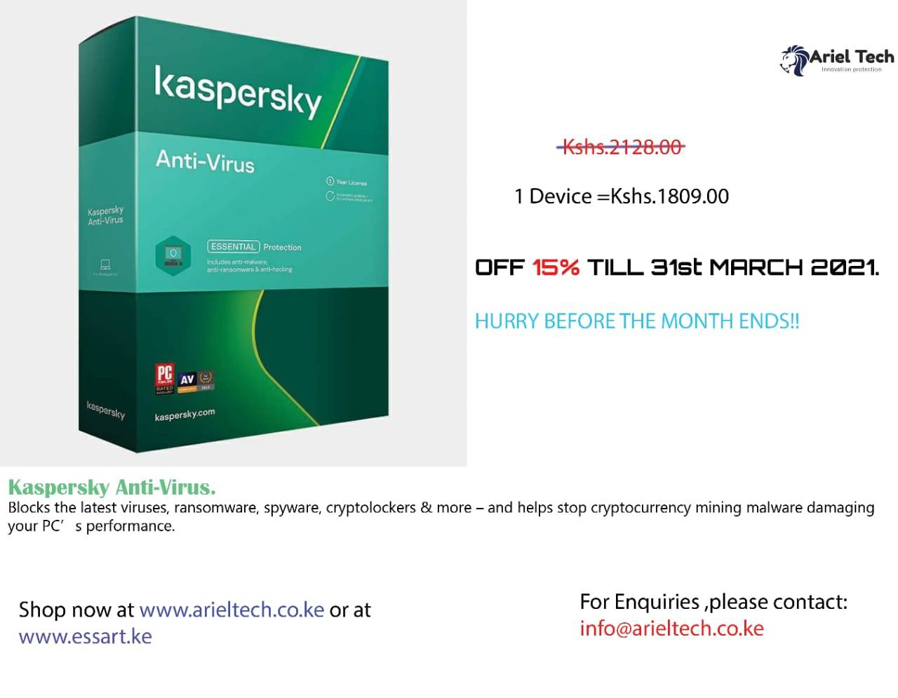 kaspersky march offer
