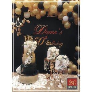 WEDDING CAKES: BLACK & GOLD 008