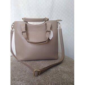 Beige Top Handle handbag