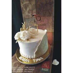 70 years Celebration Cake 021