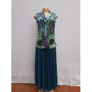 Women's Long skirt paired with sleeveless top